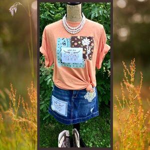 """""""Wild & Free"""" Custom Design Ladies T Shirt - Sz. L"""